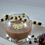 Crème Anglaise au chocolat Verser dans les verrines