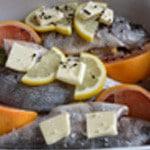 Daurade aux agrumes Ajouter beurre et poivre