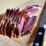 Pâtes au Gorgonzolas Trancher le jambon
