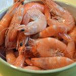 Aspics de crevettes Éplucher les crevettes