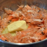 Aspics de crevettes Griller les têtes