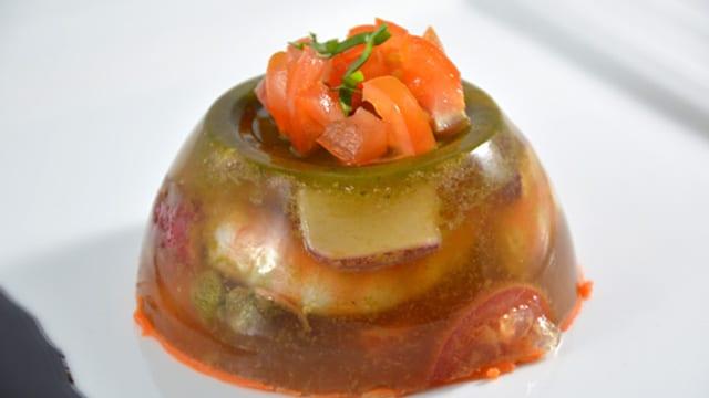 Aspics de crevettes Terminer