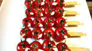 Recette de Brochettes de tomate cerise et ail