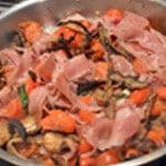 Castellane aux aubergines Laisser réduire