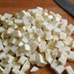 Gaspacho de céleri Couper en cube