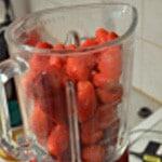 Glace fraises gariguettes Mixer les fraises