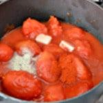 Pizza reine Réduire les tomates concassées