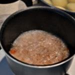 Sauce vin blac et tomates Laisser réduire