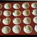 Tartelette au Roquefort Poser dans les empreintes