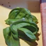 Castellane au roquefort Effeuiller le basilic