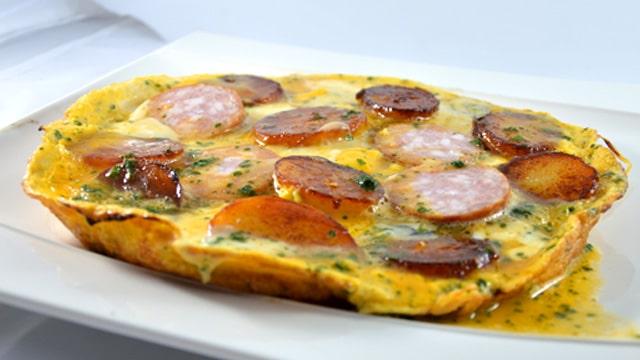 Omelette Franc comtoise Terminer Terminer