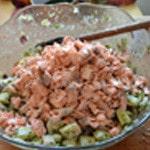 Salade de saumon Ajouter le saumon