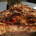 Côte de veau au sésame Zoom cuit