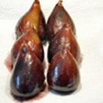 Figues au vin Figues cuites
