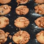 Muffins aux cerises et noisettes Muffins cuit
