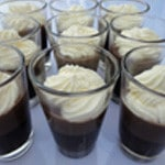 Panna cotta et chocolat Chantilly pour le contraste