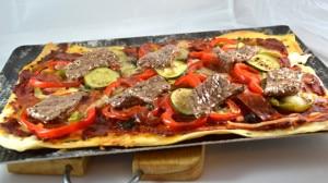 Recette de Pizza de boeuf épicé