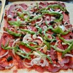 Pizza de boeuf épicé Ajouter les légumes