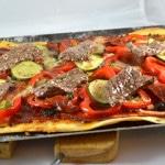 Pizza de boeuf épicé Terminer