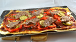 Pizza de boeuf épicé