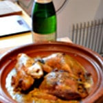Tajine de pigeons Ajouter le vin