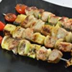 Brochettes de thon épicéesBrochettes cuites
