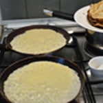 Crêpes au beurre 2 crêpes à la fois