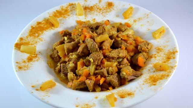 Curry de porc Terminer