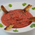 Gaspacho à la tomate pimentée
