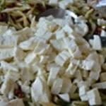 Salade de pâtes Couper en cube le fromage