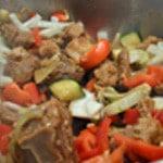 Tajine de veau Ajouter les légumes