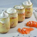 Verrine pour abricots Ajouter la meringue