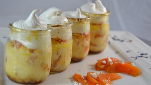 Verrine pour abricots Terminer