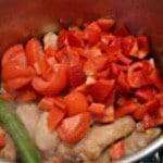 Tajine de poulet au citron Ajouter les tomates
