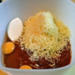 Feuilletés tomate et poivron Mélanger les ingrédients