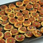 Feuilletés tomate et poivron Poser le poivron