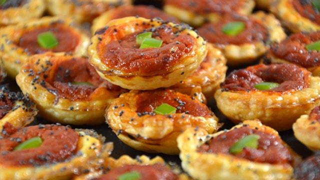 Feuilletés tomate et poivron Terminer