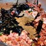 Terrine forestière Peser la viande