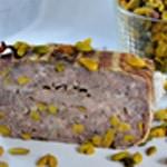 Terrine de chevreuil et pistache Une belle tranche