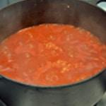 Feuilletée tomate et chèvre Laisser réduire