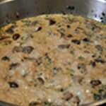 Sauce aux champignons Laisser épaissir