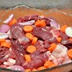 Terrine de marcassin Couper les viandes
