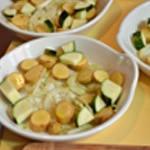Lotte au four Ajouter les légumes