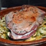 Tajine agneau et fenouil Poser l'épaule sur les légumes