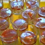 Panna cotta pommes confites Verser la crème refroidie