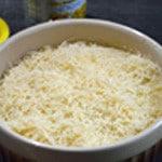 Parmentier maïs et poulet Une couche de fromage