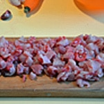 Terrine de garene Couper la viande