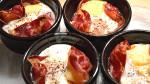 Œufs cocotte à la  pancetta