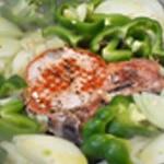 Côte de porc Ajouter les légumes