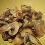Risotto aux coqs Saisir les champignons